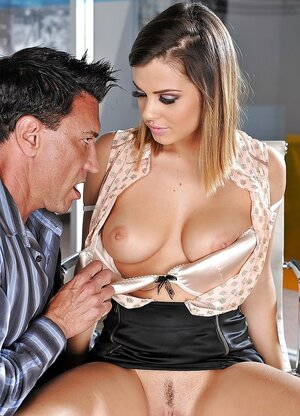 Fascinating chick will be hired if she lets the future boss have an intercourse her cum bucket